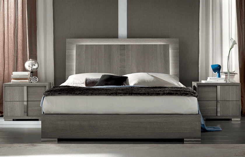 Bed with Side Table