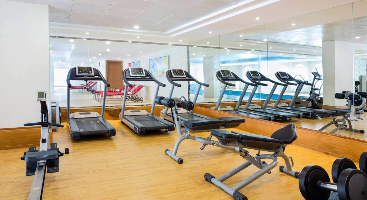Gym creative interior decor